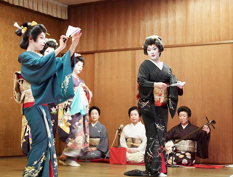 японские гейши, маи, танец, кабуки