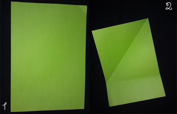 Оригами, складка квадрат